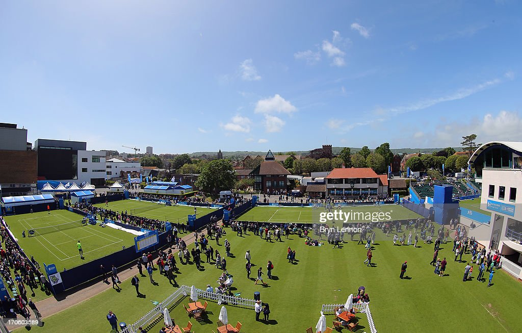 A general view of Devonshire Park during day one of the Aegon International at Devonshire Park on June 15, 2013 in Eastbourne, England.