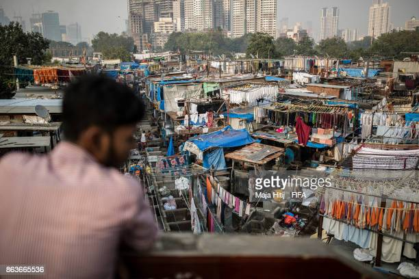 A general view of Dhobi Ghat ahead of the FIFA U17 World Cup India 2017 tournament on October 19 2017 in Mumbai India