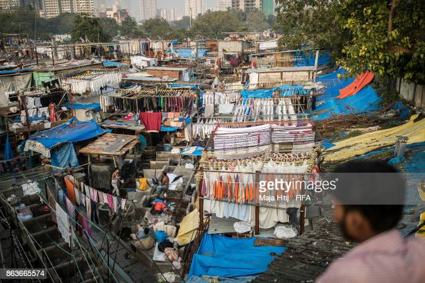 A general view of 'Dhobi Ghat' ahead of the FIFA U17 World Cup India 2017 tournament on October 19 2017 in Mumbai India
