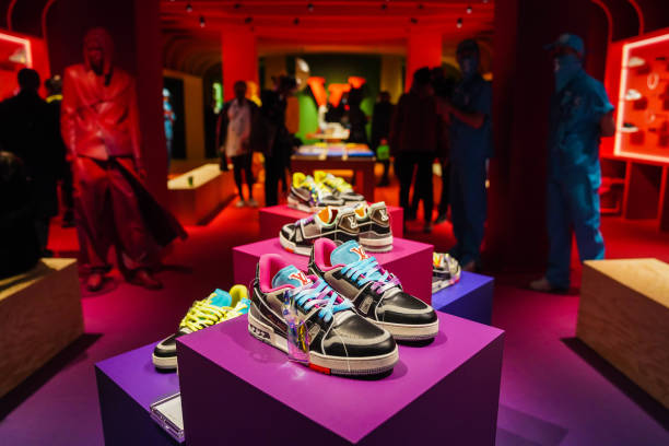 FRA: Opening Of Ephemeral Pop Up Store Louis Vuitton X Virgil Abloh At Quai De La Megisserie In Paris