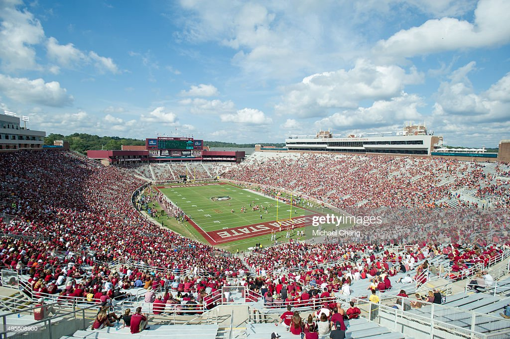General view of Doak Campbell Stadium during their game against the Syracuse Orange on October 31, 2015 at Doak Campbell Stadium in Tallahassee, FL.