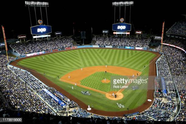 A general view of Dodger Stadium during Game 1 of the NLDS between the Washington Nationals and the Los Angeles Dodgers on Thursday October 3 2019 in...