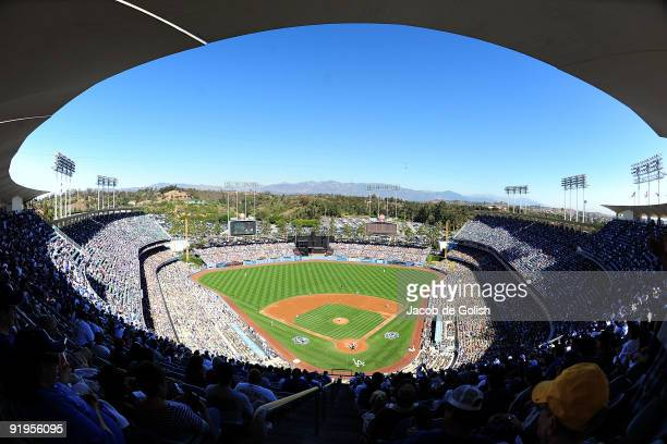 General view of Dodger Stadium during Game Two of the NLCS between the Los Angeles Dodgers and the Philadelphia Phillies during the 2009 MLB Playoffs...