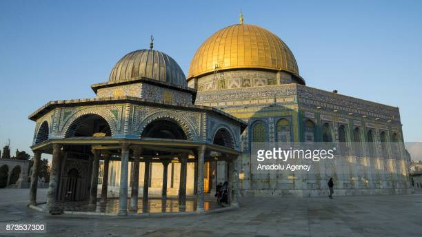 General view of Dome of Rock at Al Aqsa Mosque Compound in Jerusalem on November 13 2017 The first Qibla Muslims prayed towards is AlAqsa Mosque...