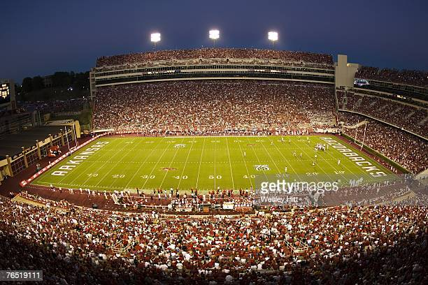 General view of Donald W Reynolds Stadium during a game between the Arkansas Razorbacks and the Troy Trojans on September 1 2007 in Fayetteville...