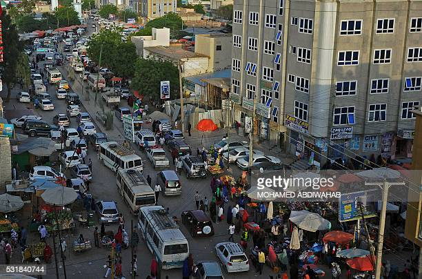 A general view of downtown Hargeisa on May 16 2016 AFP Photo/Mohamed Abdiwahab / AFP / MOHAMED ABDIWAHAB