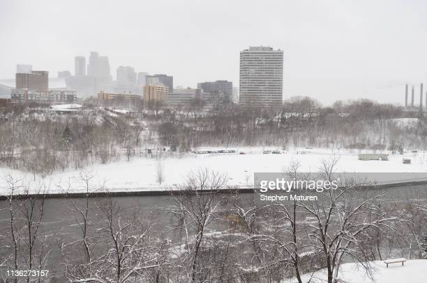 A general view of downtown Minneapolis and the Mississippi River on April 11 2019 in Minneapolis Minnesota The week in Minnesota started with two...