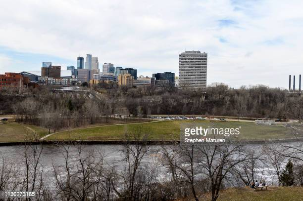 A general view of downtown Minneapolis and the Mississippi River on April 9 2019 in Minneapolis Minnesota The week in Minnesota started with two...