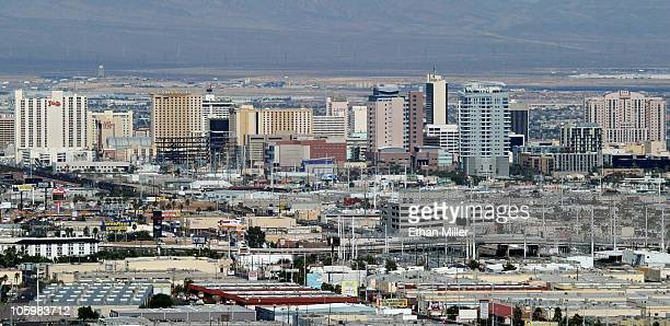 A general view of downtown October 23 2010 in Las Vegas Nevada Nevada once had among the lowest unemployment rates in the United States at 38 percent...