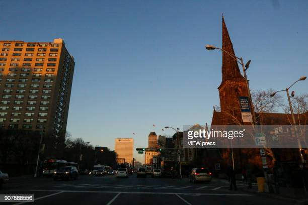 General view of downtown on January 18 2018 in Newark New Jersey Amazon has released a shortlist for its muchanticipated second headquarters with New...