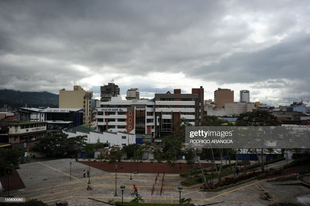 General view of downtown San Jose, Costa Rica, taken on November 8, 2012