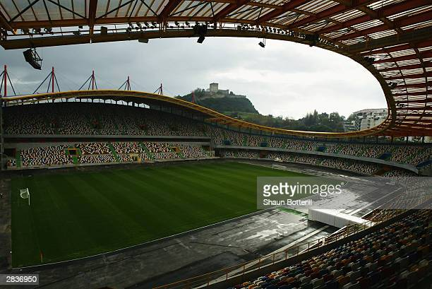 General view of Dr. Magalhaes Pessoa Stadium taken during a photoshoot held on December 4, 2003 in Leiria, Portugal. The stadium will be used as one...