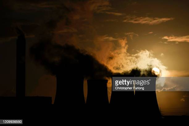 A general view of Drax Power Station on March 02 2020 in Selby England The station is the largest power station in the UK It provides about 5% of the...