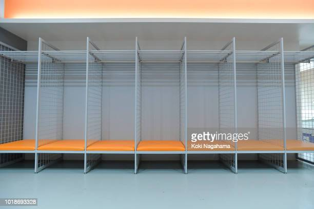 General view of dressing room in Kamaishi Recovery Memorial Stadium on August 18 2018 in Kamaishi Japan The stadium will host 3 games during the...