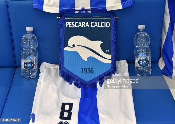 General view of dressing room of Pescara Calcio prior the Serie B match between Pescara Calcio and Venezia FC at Adriatico Stadium on December 7,...