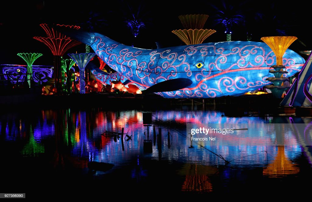 A General View Of Dubai Garden Glow At Zabeel Park On March 4, 2018 In