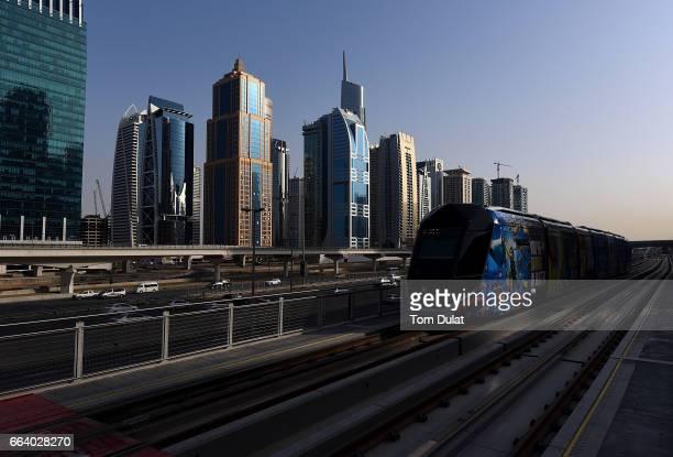 General view of Dubai Tram on April 2 2017 in Dubai United Arab Emirates