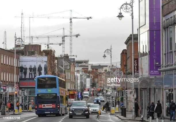 General view of Dublin during Level 5 Covid-19 lockdown. On Thursday, 28 January in Dublin, Ireland.