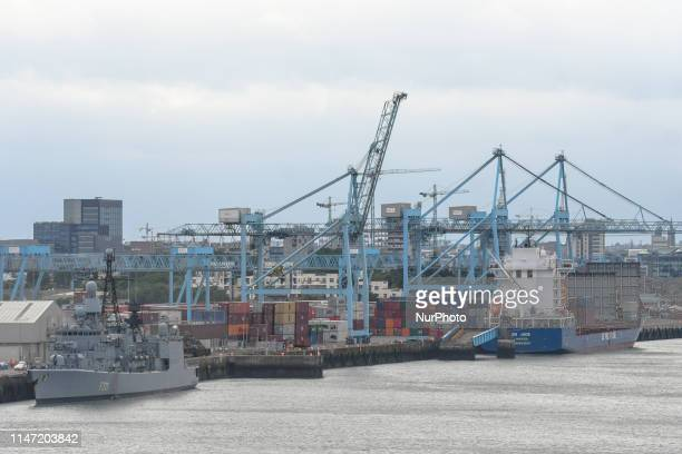 A general view of Dublin Marine Terminals ready for upcoming Brexit date On Friday May 31 in Dublin Ireland