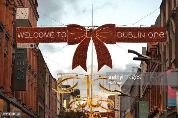 General view of Dublin's Henry Street decorated for Christmas Season. On Wednesday, November 18 in Dublin, Ireland.