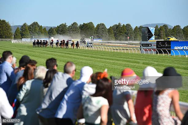 General view of Duibio winning Race 10 during Ballarat Cup day at Ballarat Racecourse on November 19 2016 in Ballarat Australia