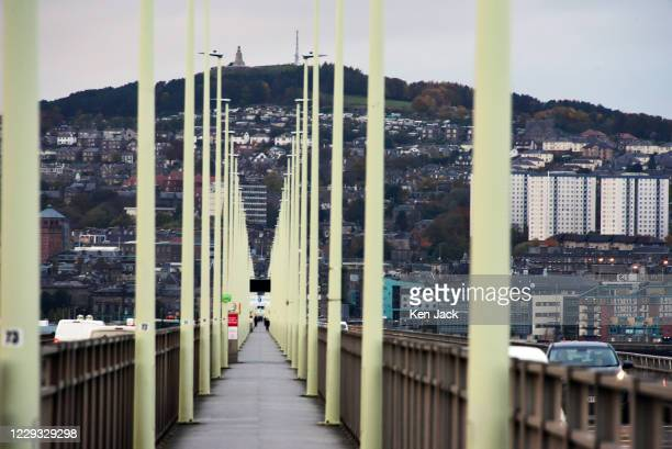 General view of Dundee and the Tay Bridge on October 28, 2020 in Dundee, Scotland. The city is likely to be placed in Tier Three when the Scottish...