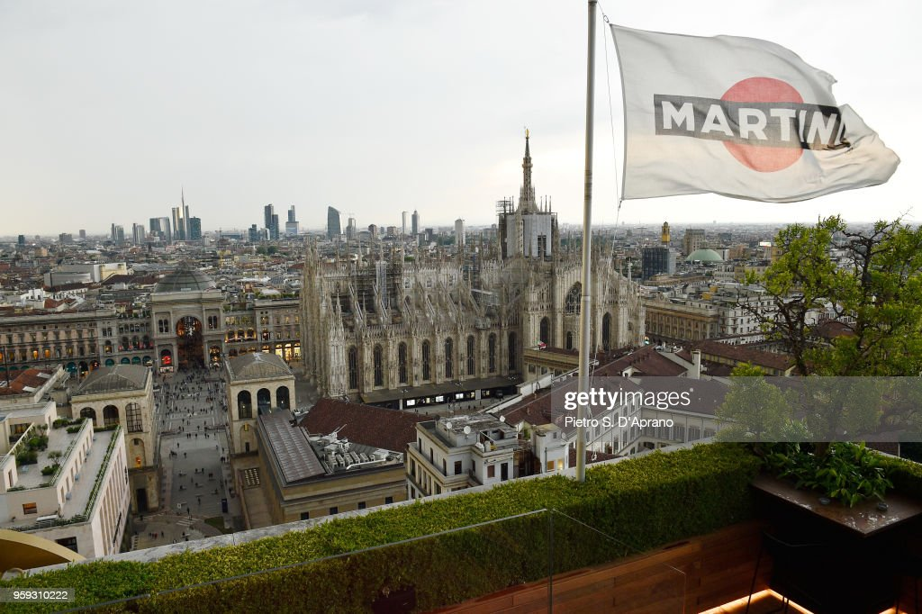 General View Of Duomo At Terrazza Martini Milano Grand Opening On