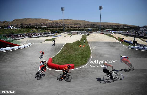 General view of during day one of the UCI BMX World Championships at BMX Velopark on June 5, 2018 in Baku, Azerbaijan.