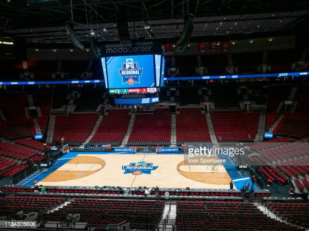 A general view of during the Moda Center before NCAA Division I Women's Championship Elite Eight round basketball game between the Oregon Ducks and...