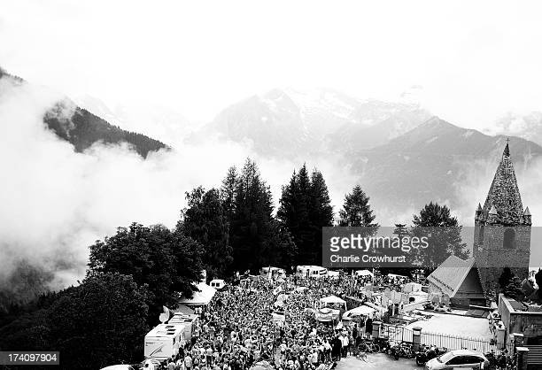 A general view of Dutch corner during stage eighteen of the 2013 Tour de France a 1725KM road stage from Gap to l'Alpe d'Huez on July 18 2013 in Alpe...