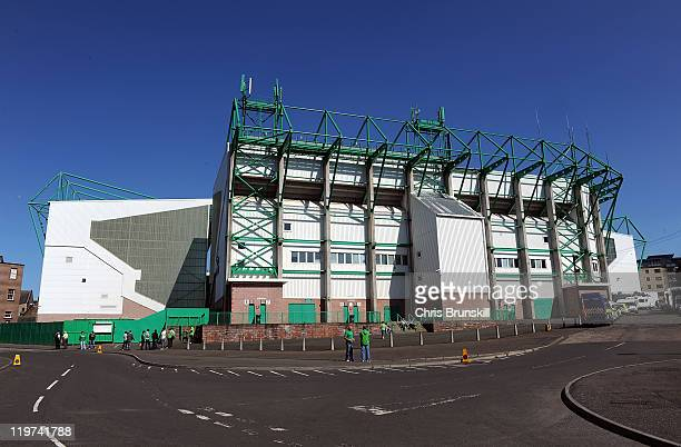A general view of Easter Road ahead of the Clydesdale Bank Premier League match between Hibernian and Celtic at Easter Road on July 24 2011 in...