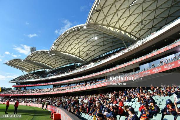 General view of Eastern Stands before the round seven AFL match between the Adelaide Crows and the Fremantle Dockers at Adelaide Oval on May 05, 2019...