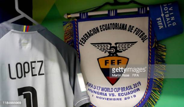 A general view of Ecuadors's locker room ahead of the FIFA U17 World Cup Brazil 2019 Group B match between Hungary and Ecuador at Estadio Olimpico de...