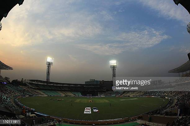 A general view of Eden Gardens during the 2011 ICC World Cup Group B match between Ireland and South Africa at Eden Gardens on March 15 2011 in...