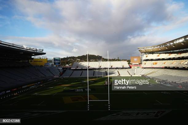 General view of Eden Park ahead of the Test match between the New Zealand All Blacks and the British & Irish Lions at Eden Park on June 24, 2017 in...