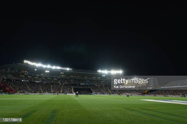 General view of Eden Park during game one of the Twenty20 series between New Zealand and India at Eden Park on January 24 2020 in Auckland New Zealand
