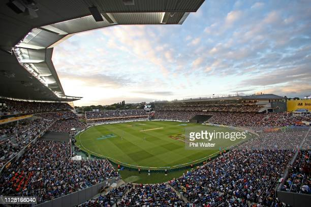 A general view of Eden Park during game two of the International T20 Series between the New Zealand Black Caps and India at Eden Park on February 08...