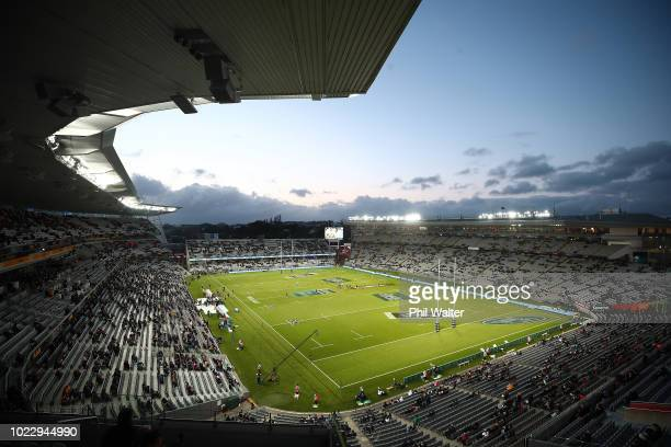 A general view of Eden Park during the International Test match between the New Zealand Black Ferns and the Australia Wallaroos at Eden Park on...