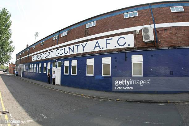 General view of Edgeley Park prior to the npower League Two match between Stockport County and Northampton Town Town at Edgeley Park on April 25,...