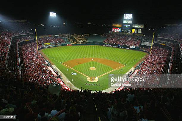 General view of Edison Field during game one of the World Series San Francisco Giants against the Anaheim Angels on October 19, 2002 at Edison Field...