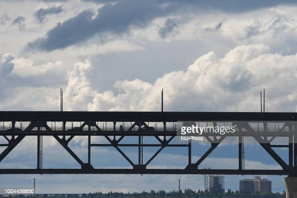 A general view of Edmonton's High Level Bridge seen from south bank On Sunday July 22 in Edmonton Alberta Canada