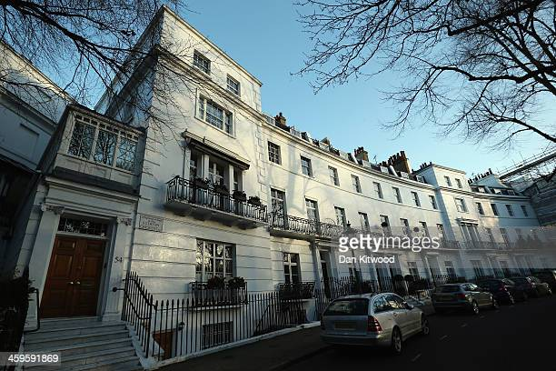 A general view of Egerton Crescent in the Royal Borough of Kensington and Chelsea on December 28 2013 in London England Egerton Crescent has been...