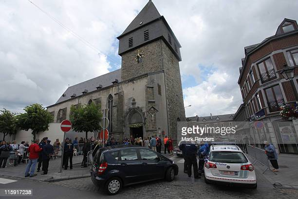 General view of Eglise Saint Pierre during the wedding of Countess Helene d'Udekem d'Acoz and Baron Nicolas Janssen on June 11, 2011 in Bastogne,...