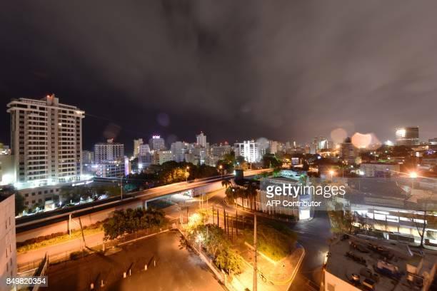 General view of El Condado area in San Juan Puerto Rico on September 19 prior to the arrival of Hurricane Maria Maria is headed towards the Virgin...