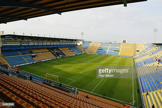 General view of El Madrigal Stadium home to Villarreal football club taken during the UEFA Cup Quarter Final Second Leg match between Villarreal and...