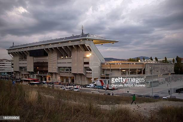 General view of El Sadar stadium prior to start the La Liga match between CA Osasuna and FC Barcelona on October 19 2013 in Pamplona Spain