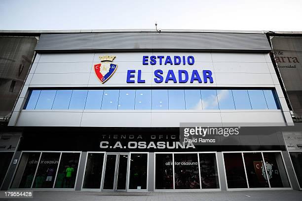 General view of El Sadar stadium prior to the La Liga match between CA Osasuna and Villareal CF on August 31 2013 in Pamplona Spain