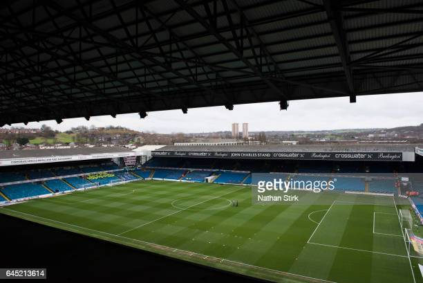 General view of Elland Road before the Sky Bet Championship match between Leeds United and Sheffield Wednesday at Elland Road on February 25 2017 in...