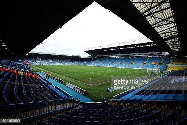 A general view of Elland Road prior to The Emirates FA Cup Third Round match between Leeds United and Rotherham United at Elland Road on January 9...