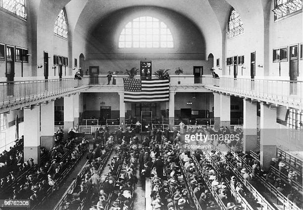 A General View of Ellis Island New York circa 1880